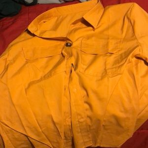 Yellow button up